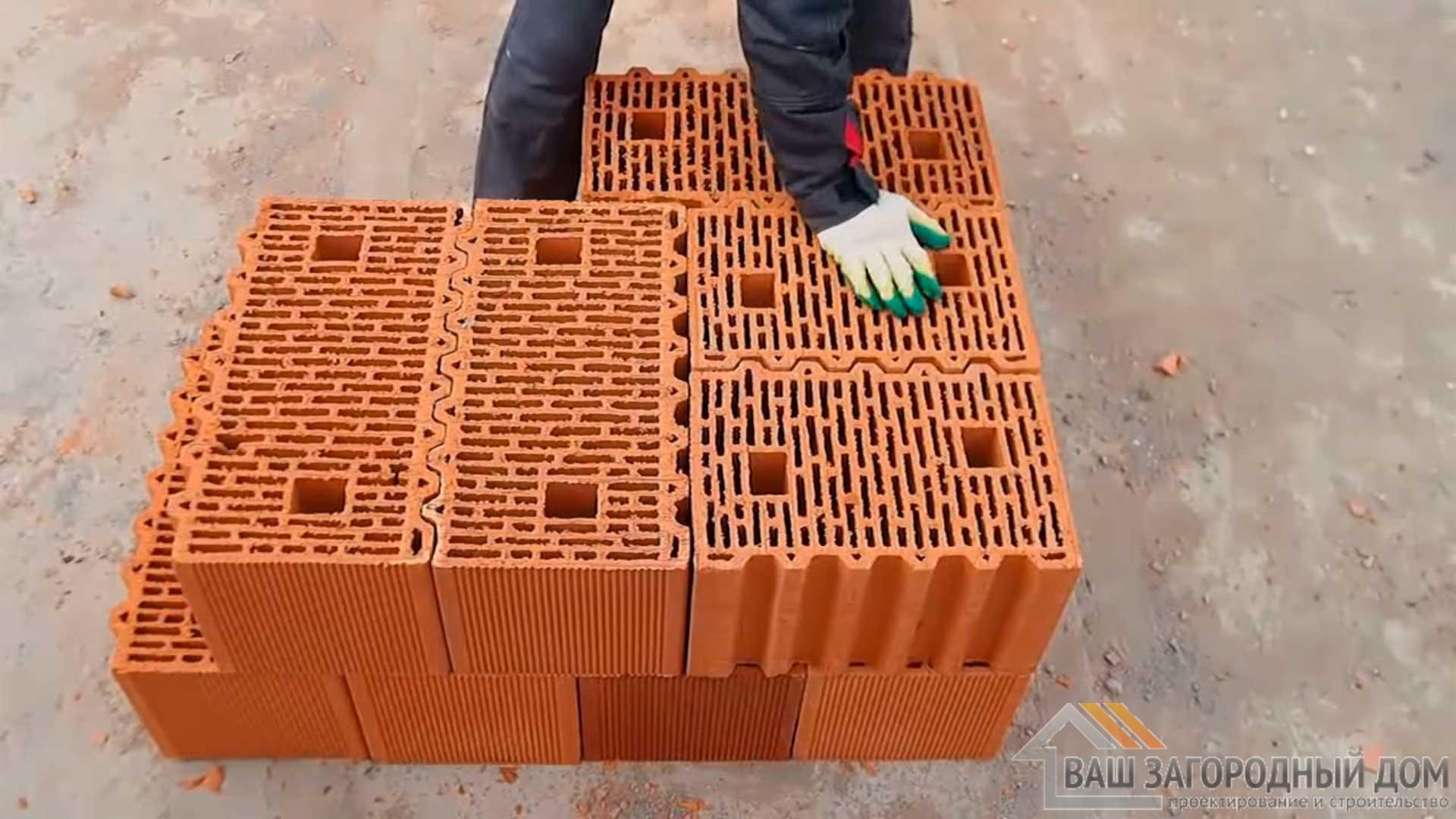 Как нужно делать угол, если стена из керамических блоков porotherm 51