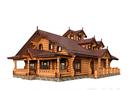 Деревянный дом из бревна под ключ