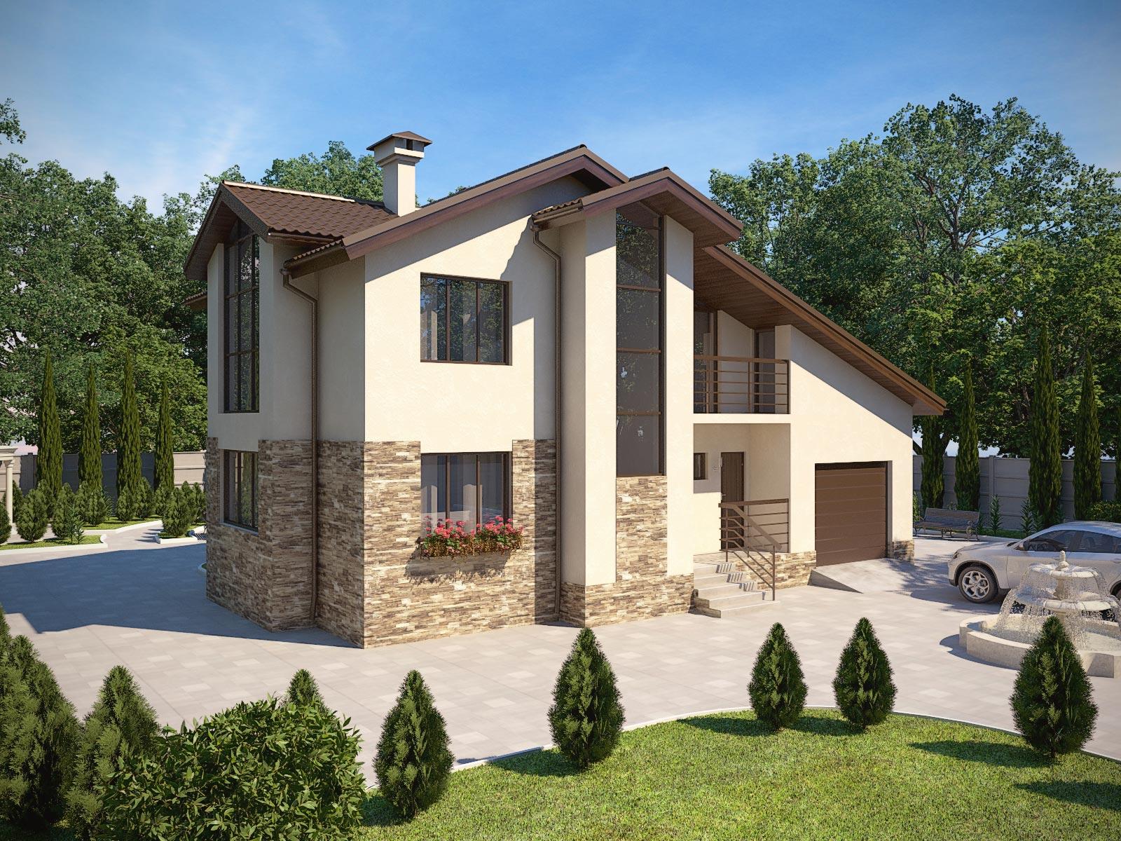 Проекты двухэтажных домов от 90 – до 100 кв. м, фото и цены