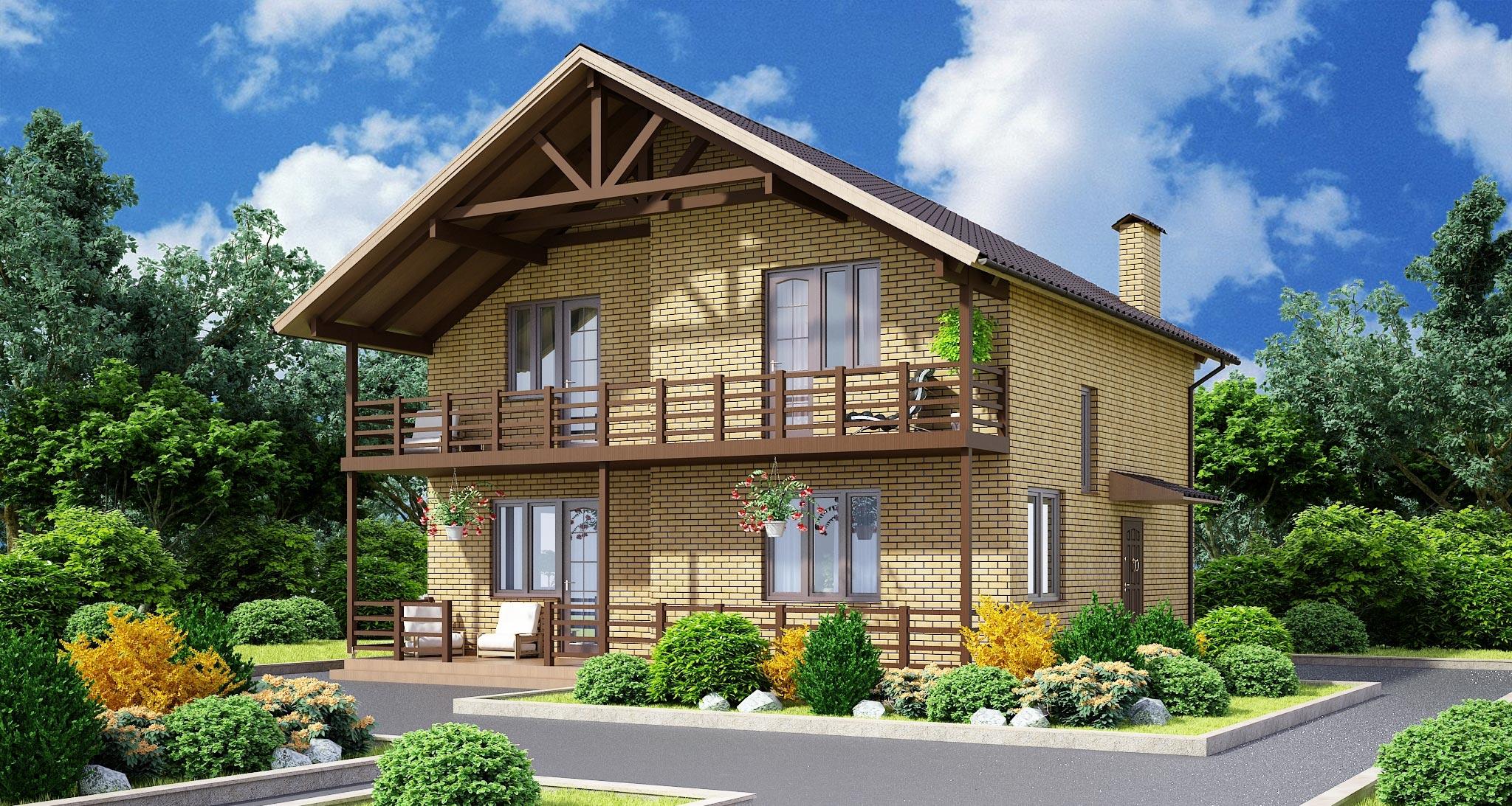 Проект дома К-208