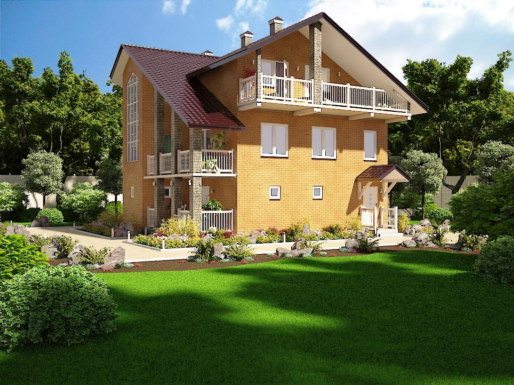 Проекты двухэтажных домов до 70 кв.м, фото и цены