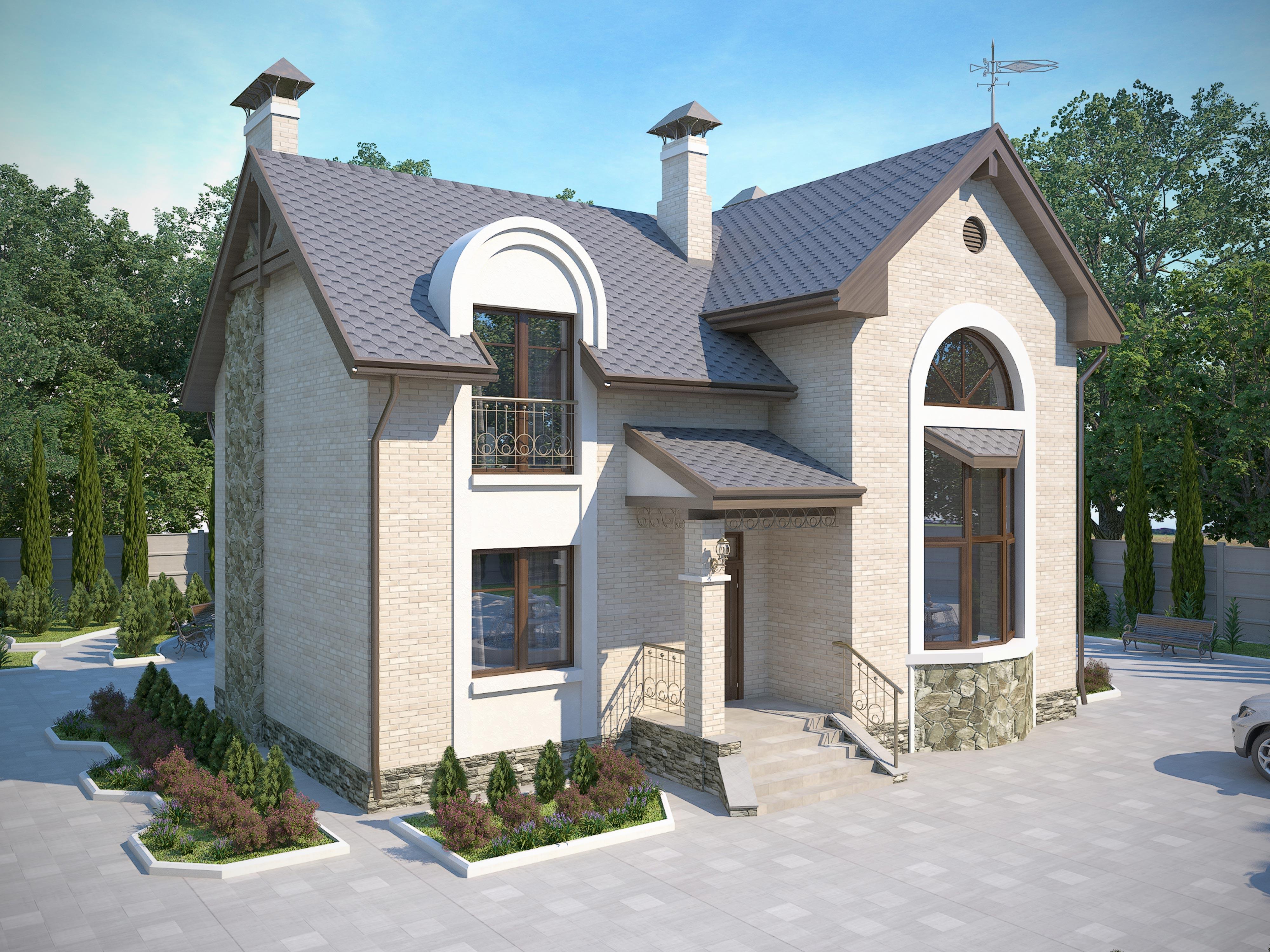 Проекты двухэтажных домов от 140 – до 200 кв. м, фото и цены
