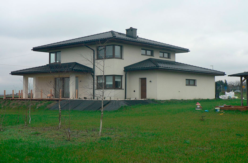 Строительство двухэтажного дома, площадью 224 м2 в стиле прерий