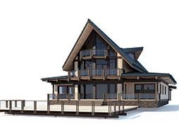Дома со 2м светом из клееного бруса