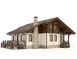 Дома с камином из бруса под ключ