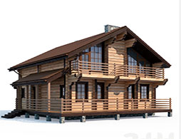 Дома с балконом из бруса под ключ