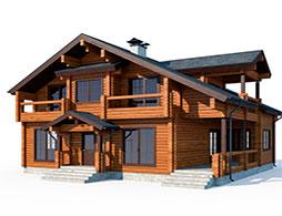 Дома с балконом из клееного бруса