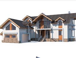 Большие дома из СИП панелей под ключ