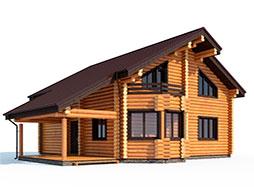 Дома из лафета с 3мя спальнями под ключ