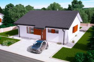 Проект одноэтажного дома 85 м2 К-18564