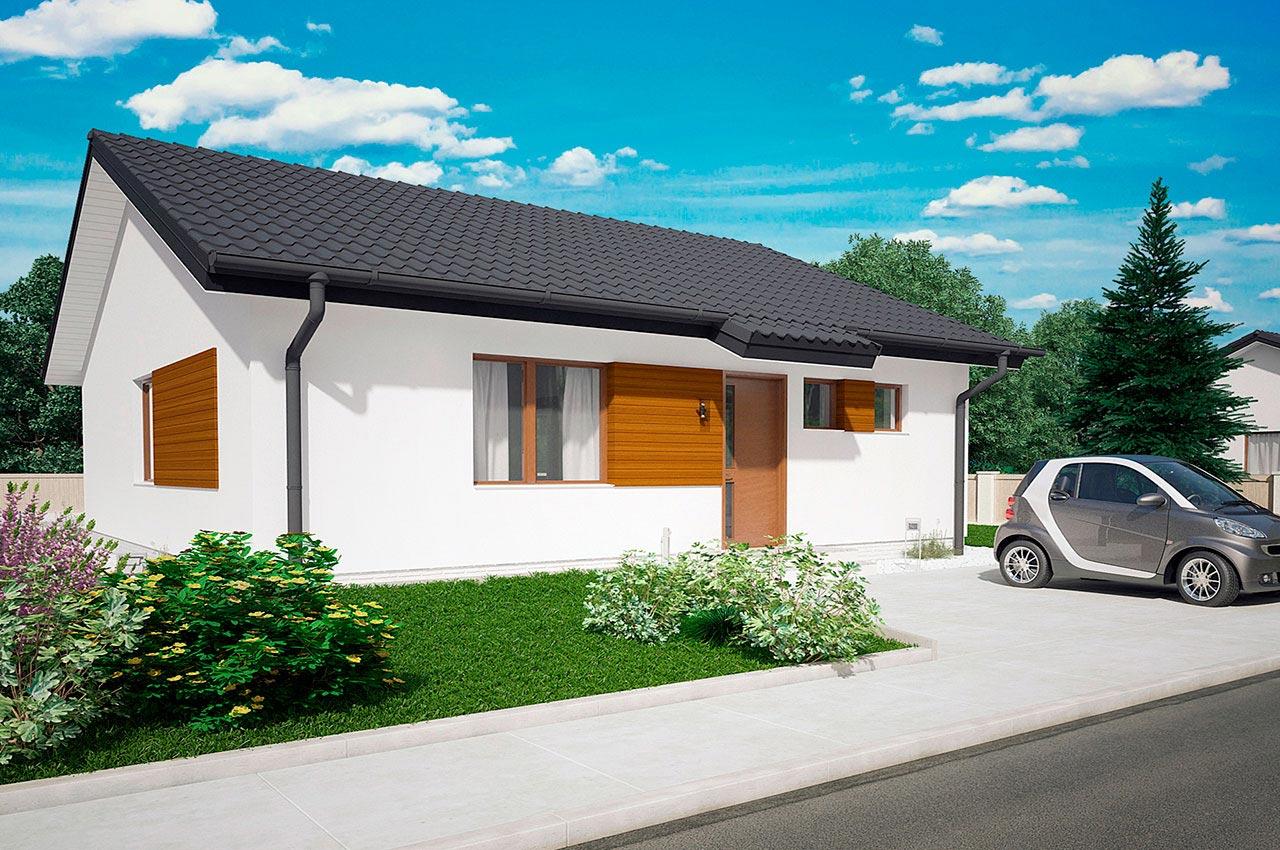 Проект одноэтажного дома 84 м2 -вид 5