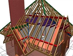 Проект шатровой крыши 1