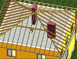 Проект шатровой крыши 3