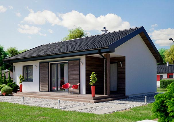 Проект одноэтажного дома 80 м2 -1