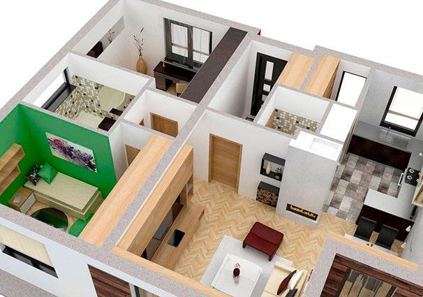 Проект одноэтажного дома 80 м2 -3