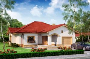 Проект одноэтажного дома 217 м2 с гаражом и мансардой, K-121716