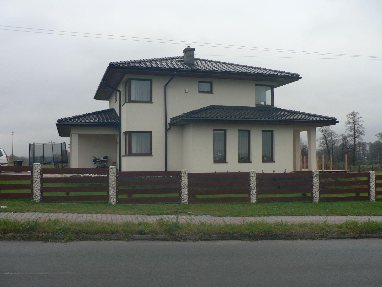 Строительство двухэтажного дома, площадью 224 м2 в стиле прерий, вид сбоку
