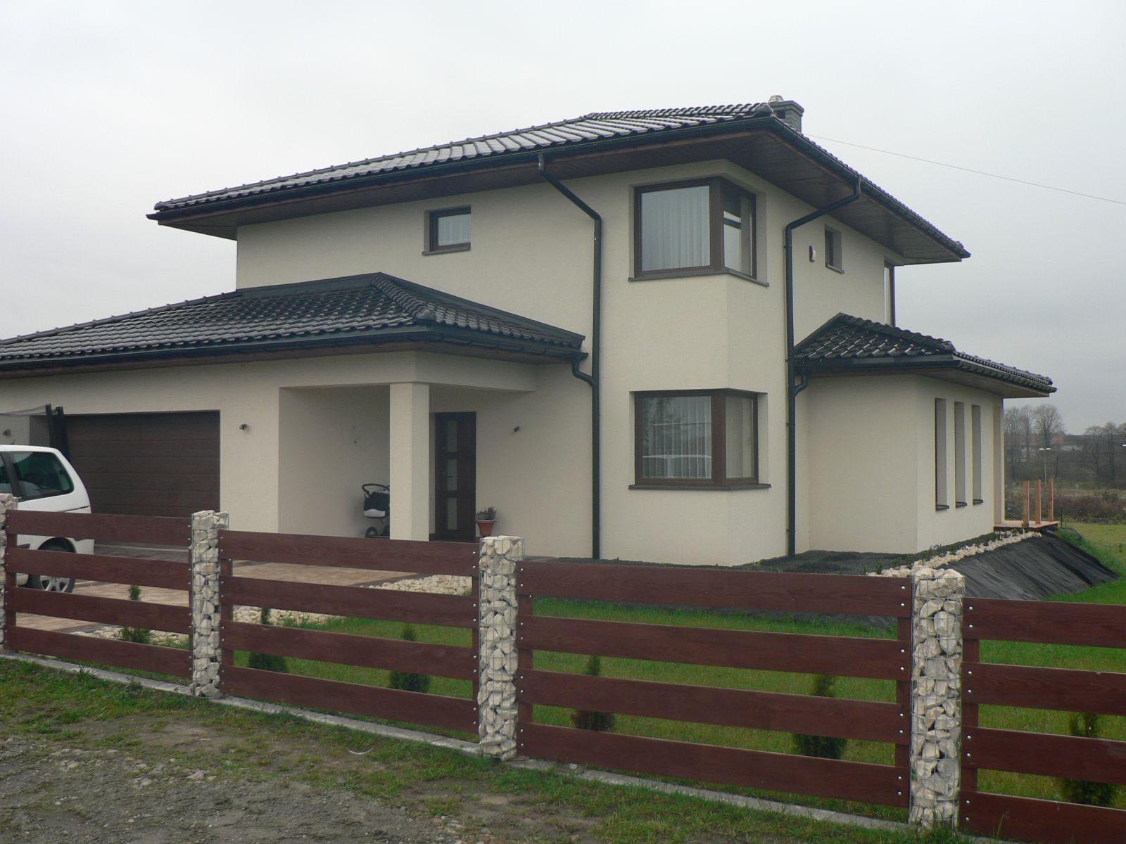 Строительство двухэтажного дома, площадью 224 м2 в стиле прерий, вид спереди