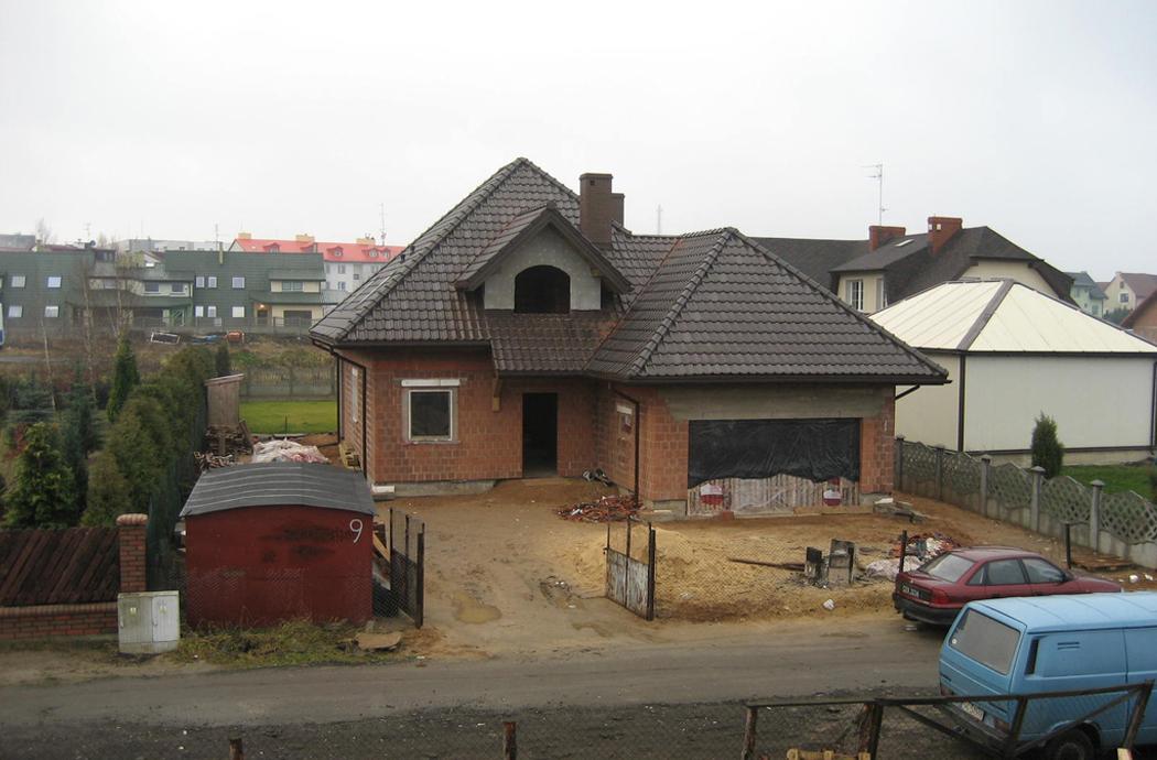 Строительство одноэтажного дома с мансардой 189м2 общий вид