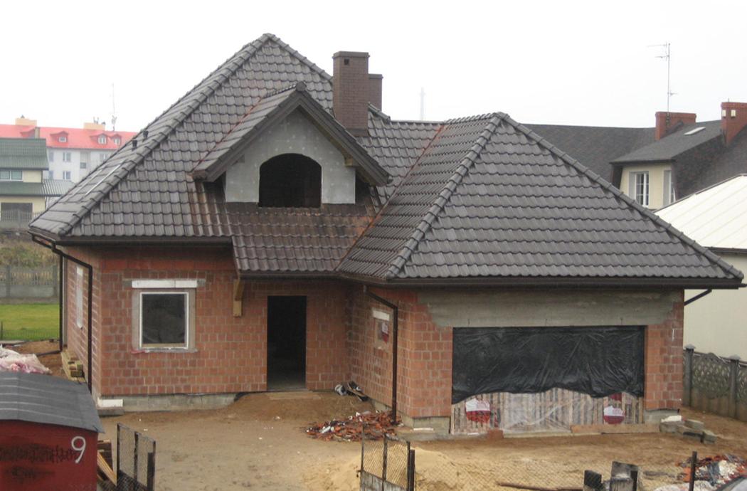 Строительство одноэтажного дома, площадью 189 м2 с мансардой и гаражом