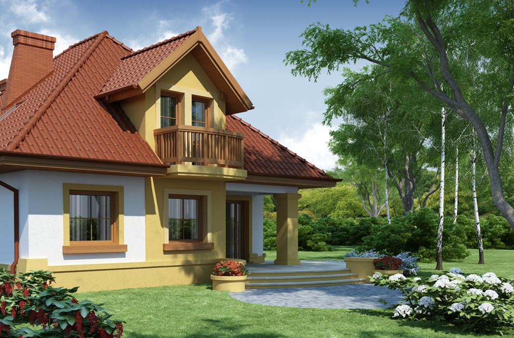 Дизайн одноэтажного дома 189м2 с мансардой вид на крыльцо