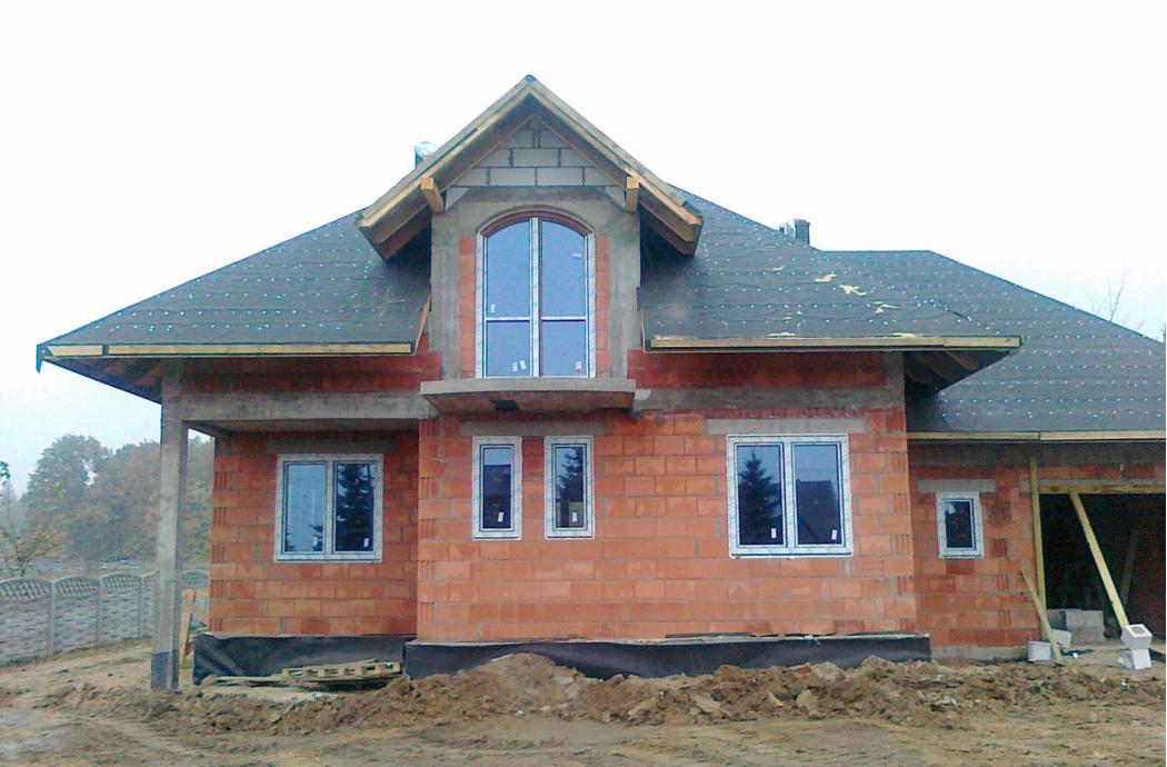 Строительство одноэтажного дома 205м2 вид на мансарду