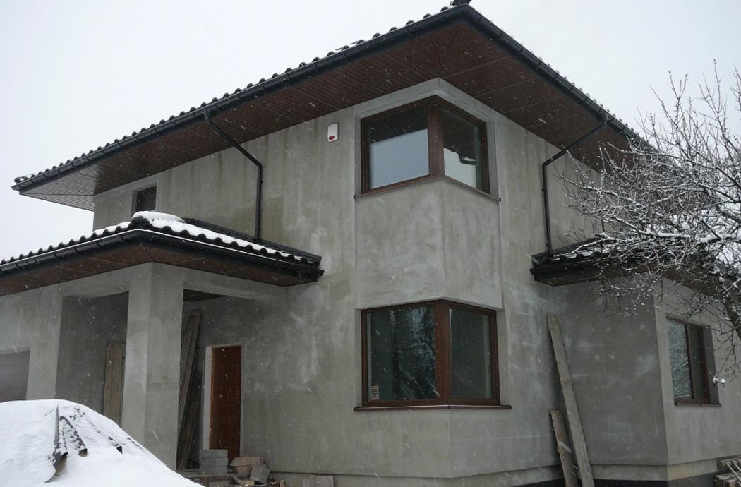 Строительство двухэтажного дома, площадью 181 м2, вид на спальню на 2-м этаже