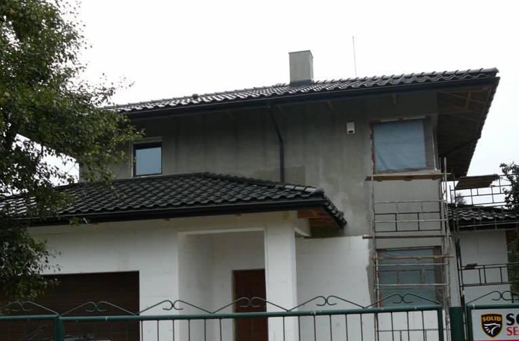 Строительство одноэтажного дома, площадью 181 м2, вид на гараж