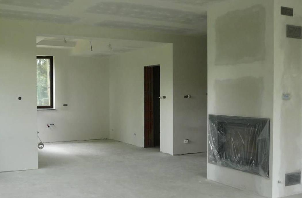 Строительство одноэтажного дома, площадью 181 м2, гостинная