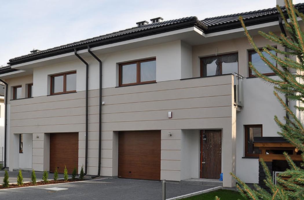 Строительство двухэтажного дома, площадью 250 м2, вид сбоку
