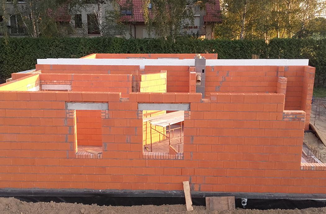 Строительство двухэтажного дома, площадью 250 м2, первый этаж