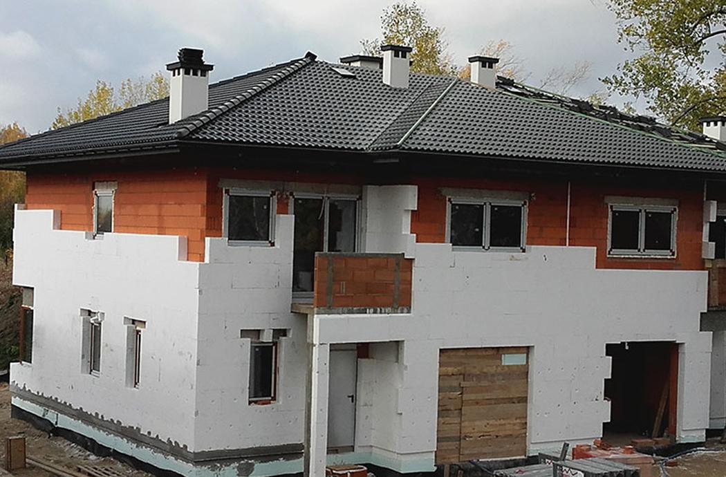 Строительство двухэтажного дома, площадью 250 м2, утепление
