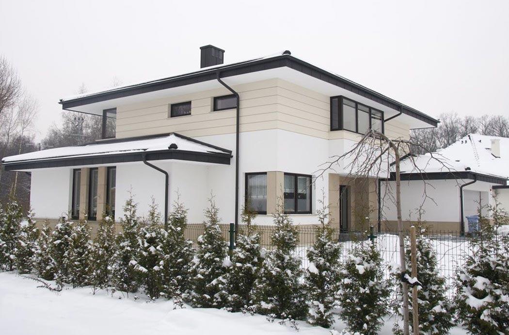 Строительство одноэтажного дома, площадью 278 м2 с мансардой и гаражом