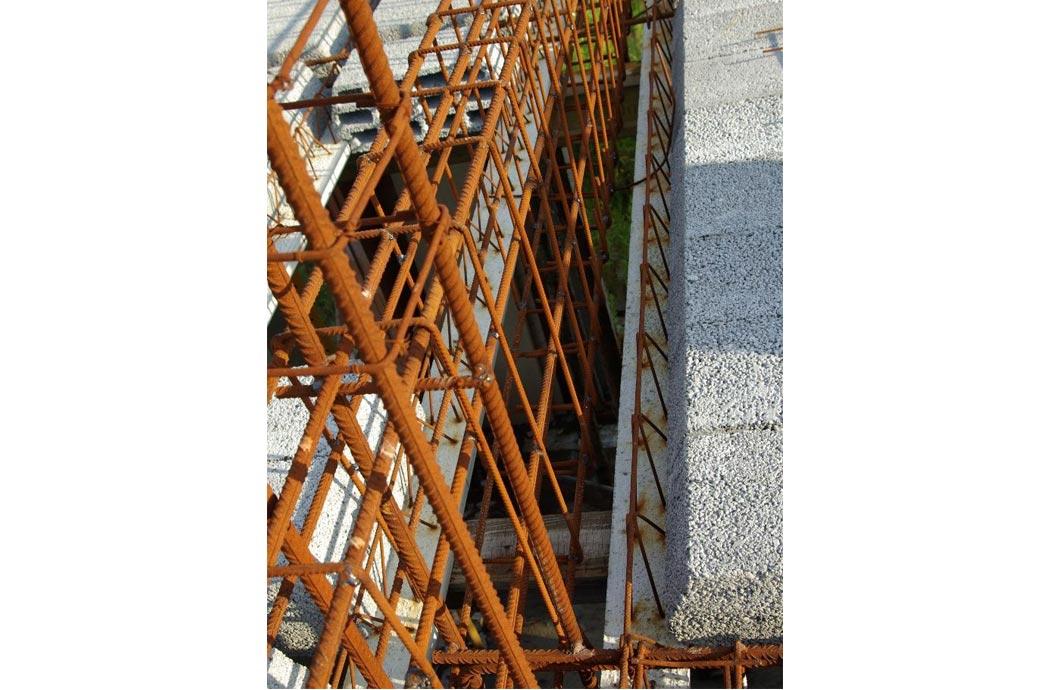 Строительство одноэтажного дома, площадью 278 м2, арматура перекрытия