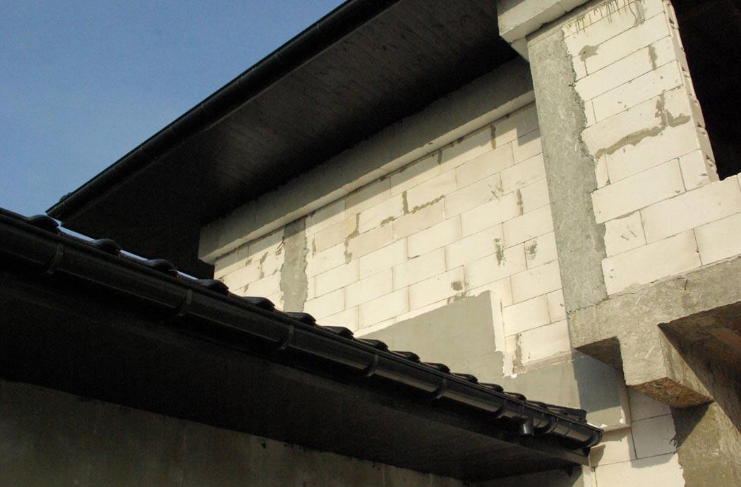 Строительство одноэтажного дома, площадью 278 м2, водостоки