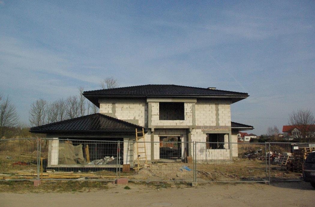 Строительство одноэтажного дома, площадью 278 м2, общий план спереди