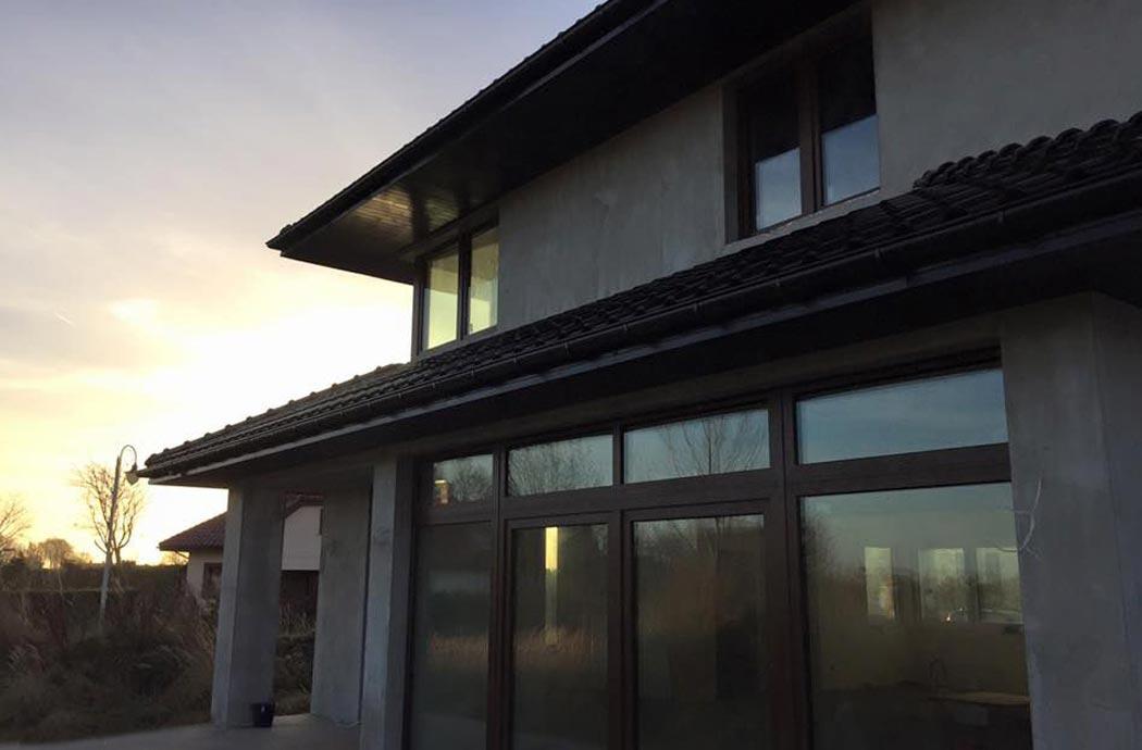 Строительство одноэтажного дома, площадью 278 м2, панарамные окна