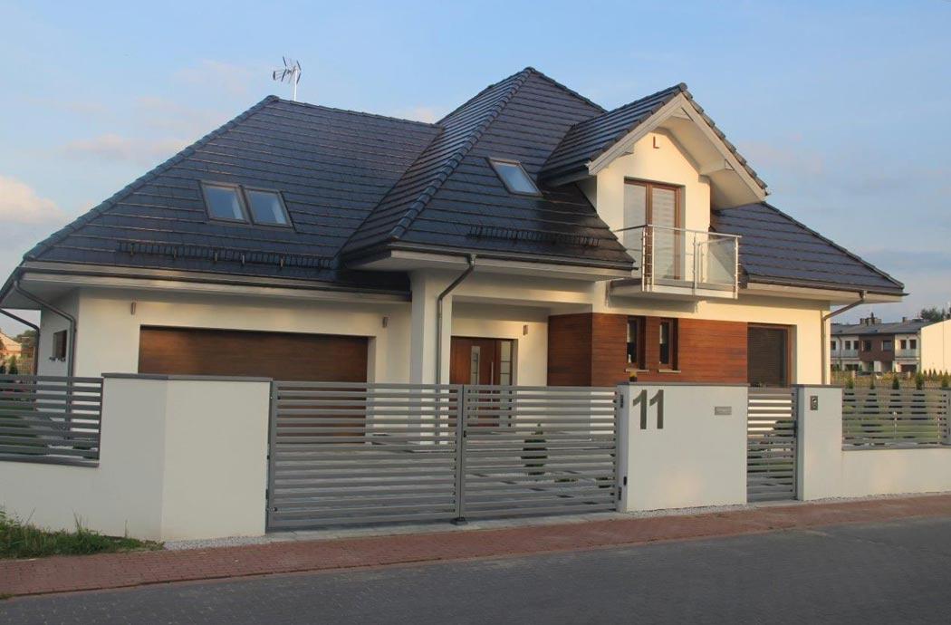 Строительство одноэтажного дома 298 м2 с гаражом и мансардой