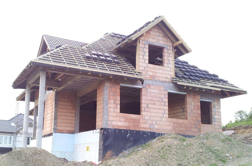 Строительство дома 298 м2, вид сбоку