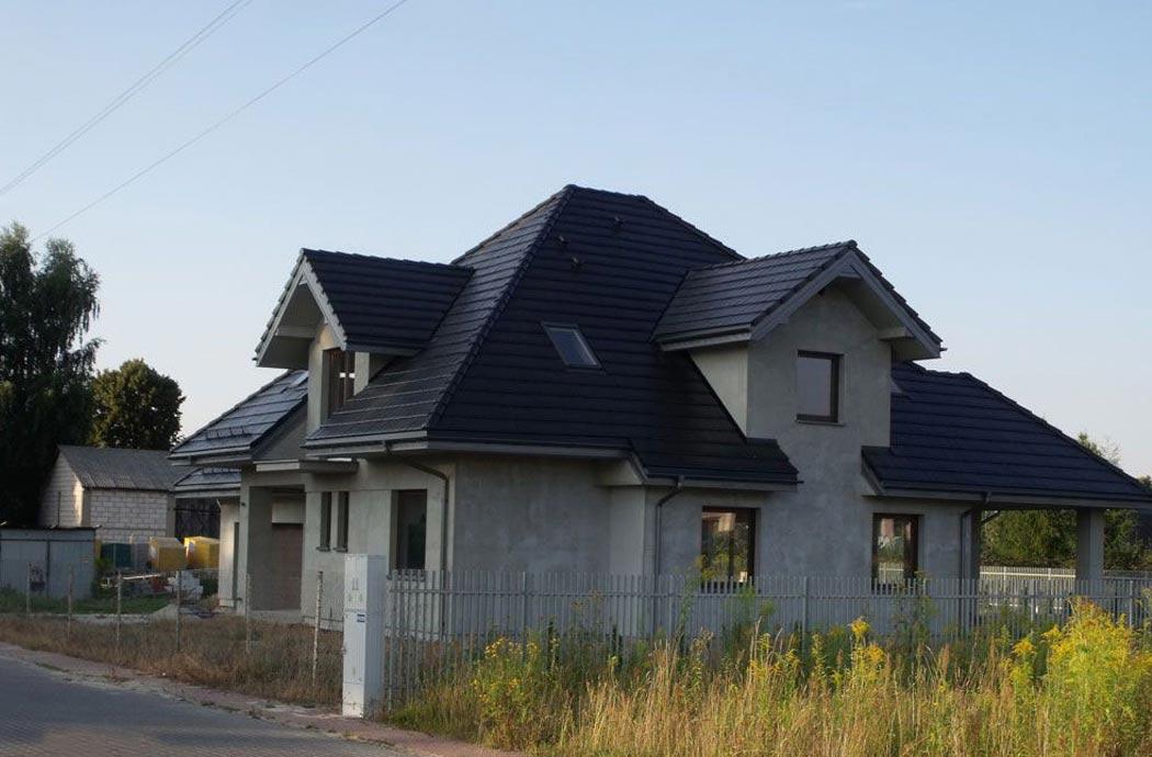 Строительство дома 298 м2, вид с боку