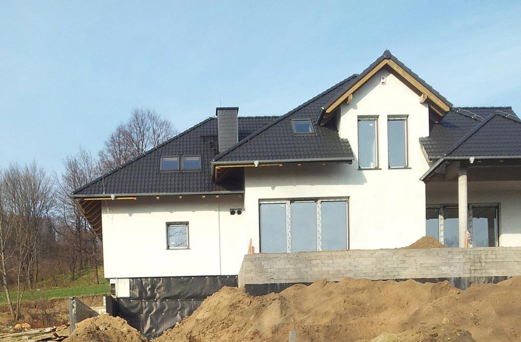 Строительство дома 298 м2, вид на гостинную 2