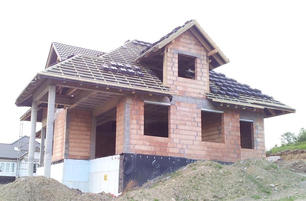 Строительство дома 298 м2, перед штукатуркой
