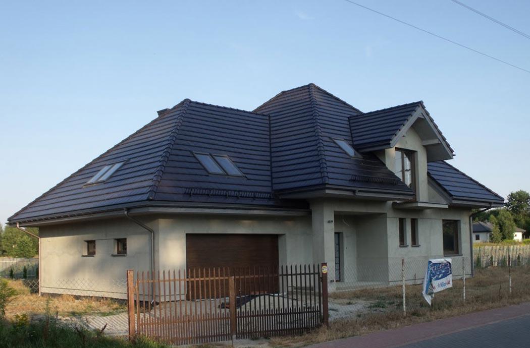 Строительство дома 298 м2, вид на гараж