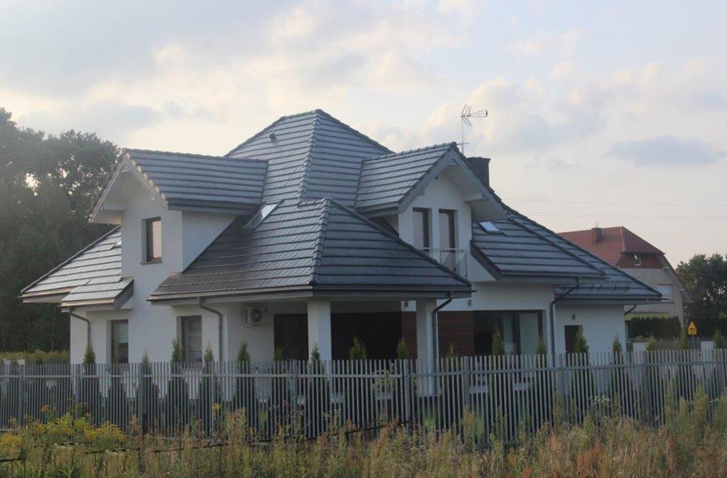 Строительство дома 298 м2, вид на крыльцо