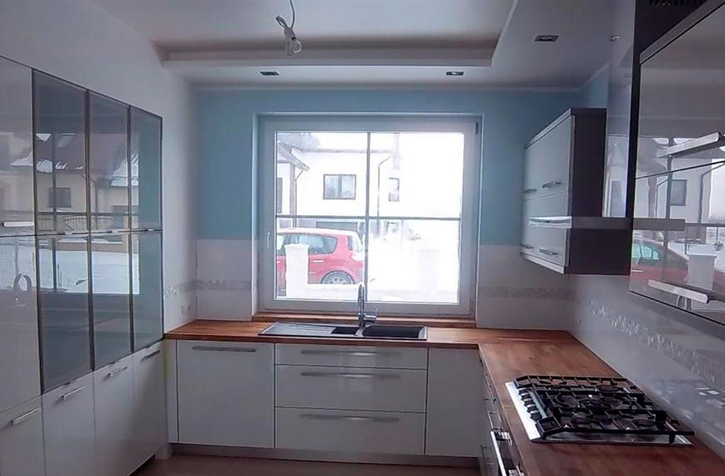 Строительство дома 214м2, вид на кухне