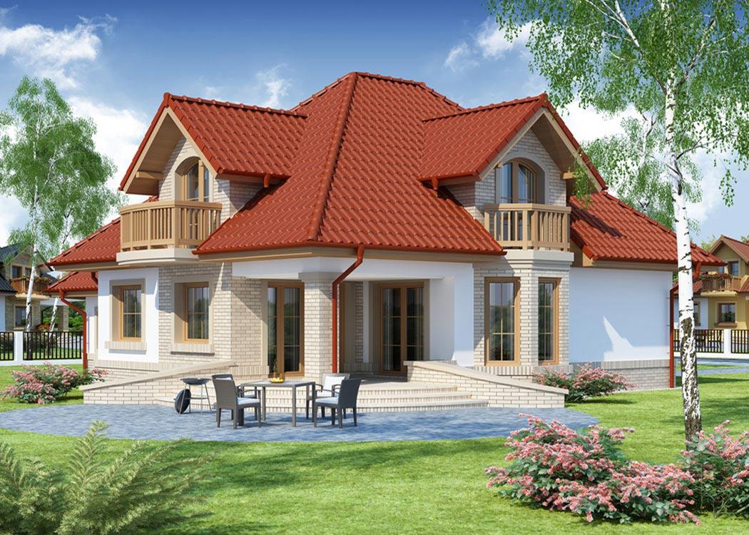 Дизайн дома 214м2, визуализация, вид сзади