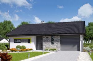 Проект одноэтажного дома 108 м2 с гаражом К110881