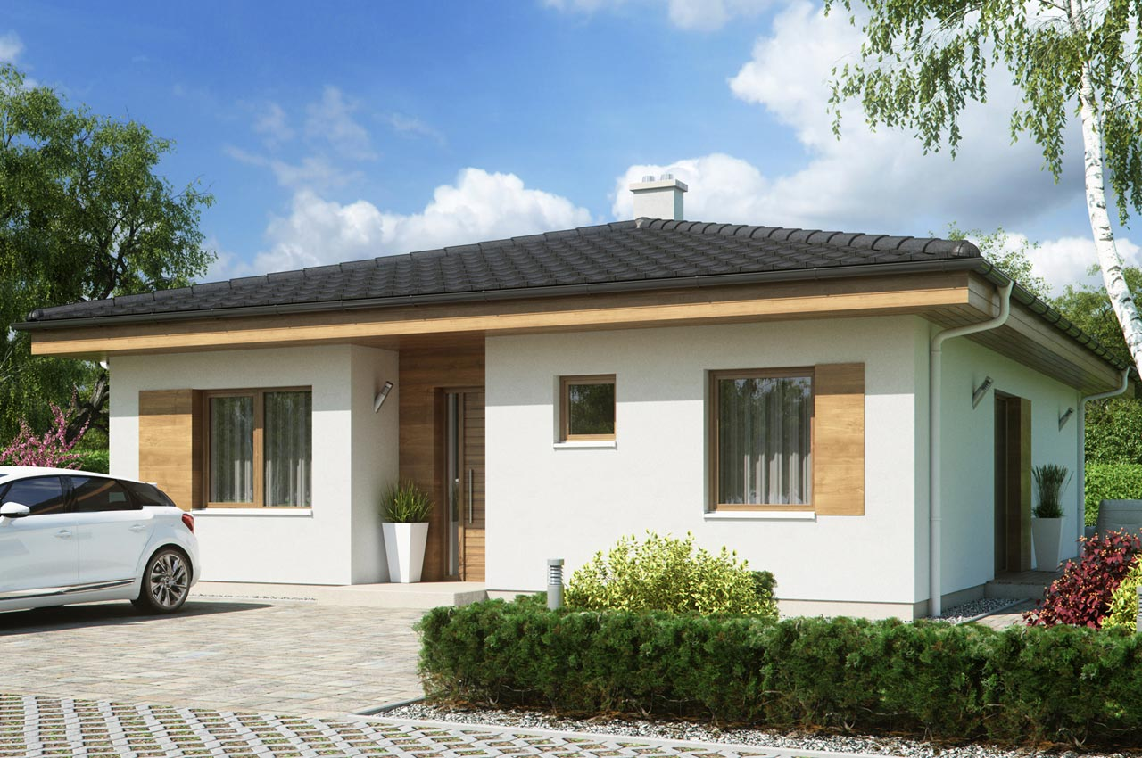 Проект одноэтажного дома 103 м2 К-1103772