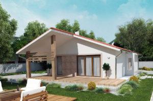 Проект одноэтажного дома 101 м2 К110175