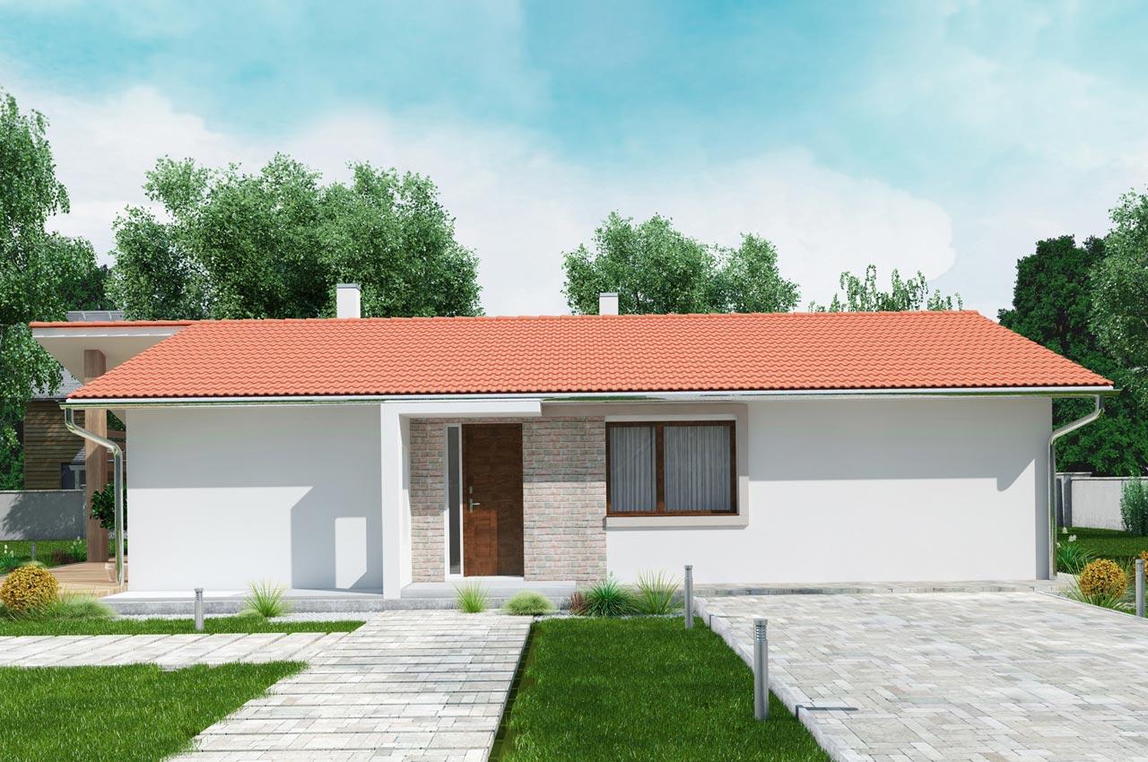 Проект одноэтажного дома 101м2 К-11017575 вид спереди